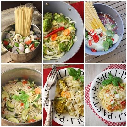 «All-in-one pasta» ou comment se faire un plat de pâtes cuit dans une seule casserole?