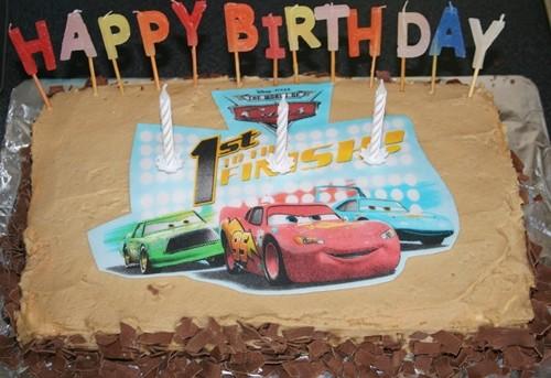 Gâteau d'anniversaire Cars – 2ème version