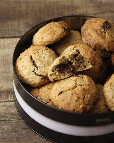 Clémence aux fourneaux: cookies au coeur fondant chocolat noir