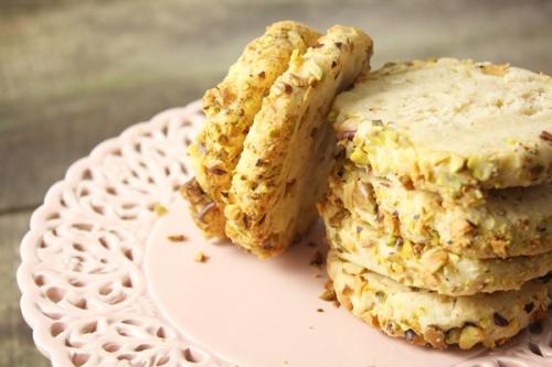 Biscuits au fromage frais et aux pistaches
