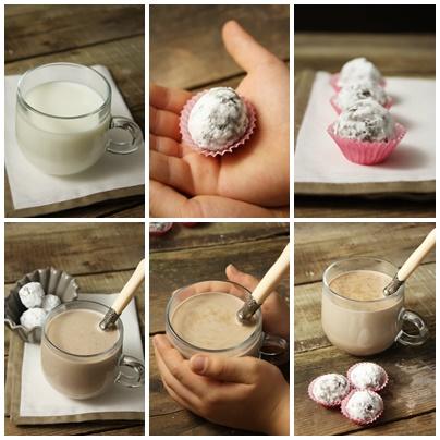 Cadeaux gourmands à préparer avec les enfants: truffes à faire fondre pour un excellent chocolat chaud!