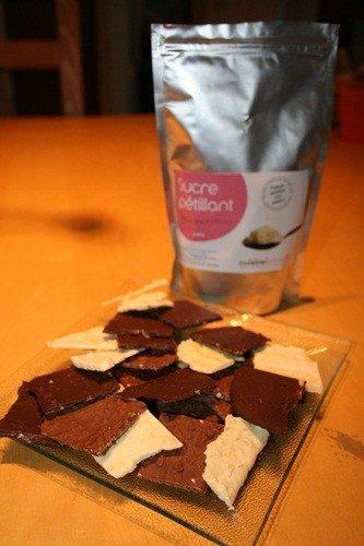 Chocolat pétillant