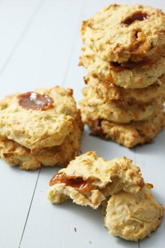 Cookies aux pommes et caramels au beurre salé