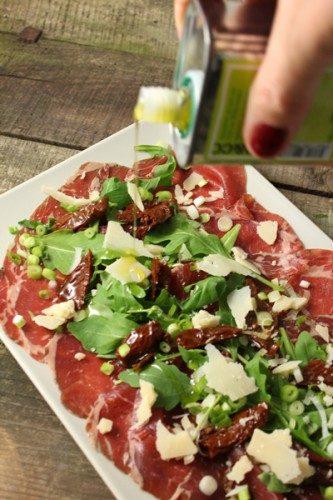 Carpaccio de boeuf Holstein à l'italienne