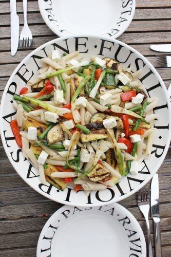 Penne à l'épeautre et légumes grillés