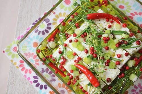 Feta marinée pour vos apéros ou vos salades