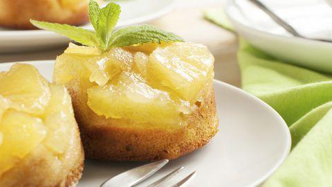 Tranches d'ananas cuites pour décoration de desserts