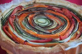 Tarte provençale en spirale