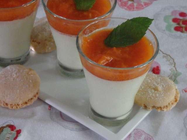 Panna cotta vanille et Amaretto glacé