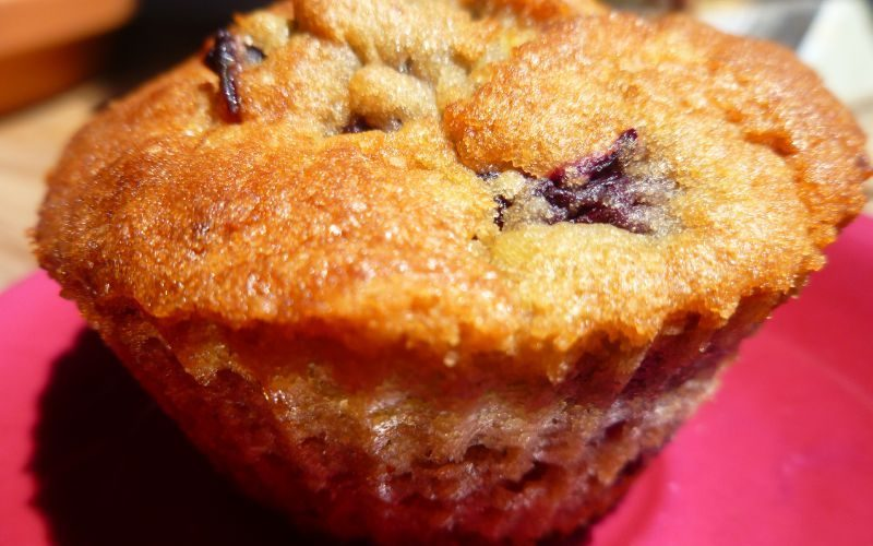 Muffins cerises, pistache et orange