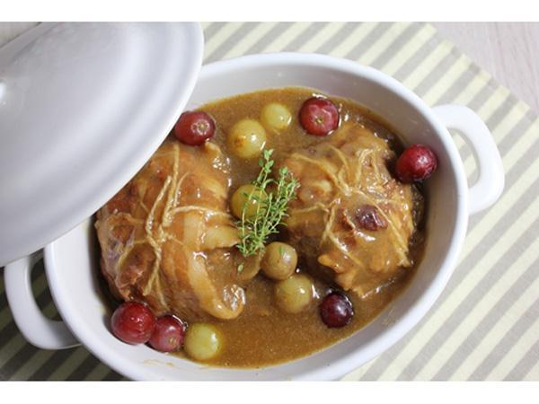 Paupiettes de veau sauce aux raisins et calvados