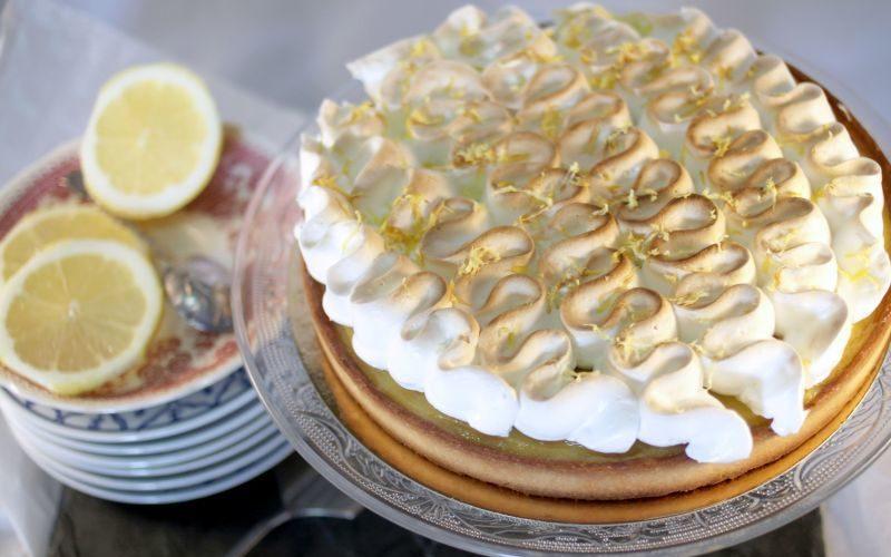 Tarte citronnée et meringue italienne