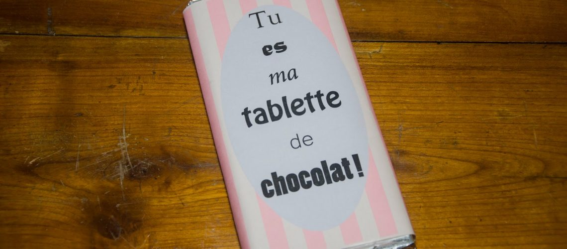 Petites tablettes de chocolat customisées