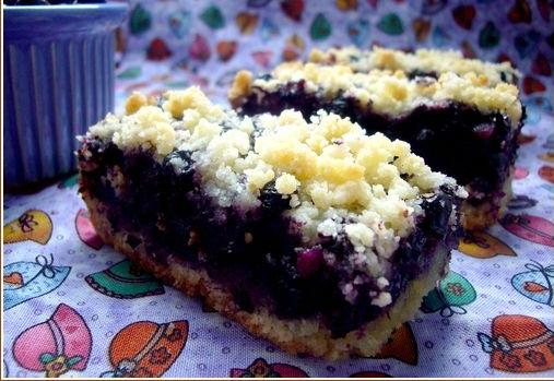Blueberry Buckle (Gâteau-Crumble aux myrtilles)
