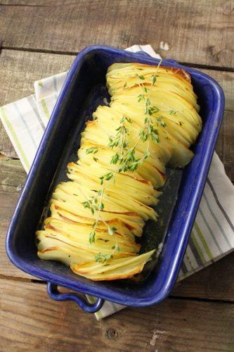 Pommes de terre croustillantes au thym frais