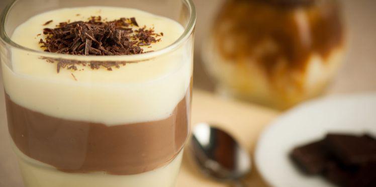 Verrines chocolat-vanille
