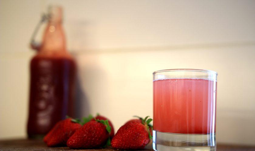 Sirop de fraises bio maison
