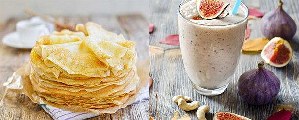 J'ai testé pour vous le lait battu de Balade: crêpes et smoothie à la figue